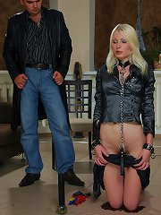 Blonde slavegirl with nice..
